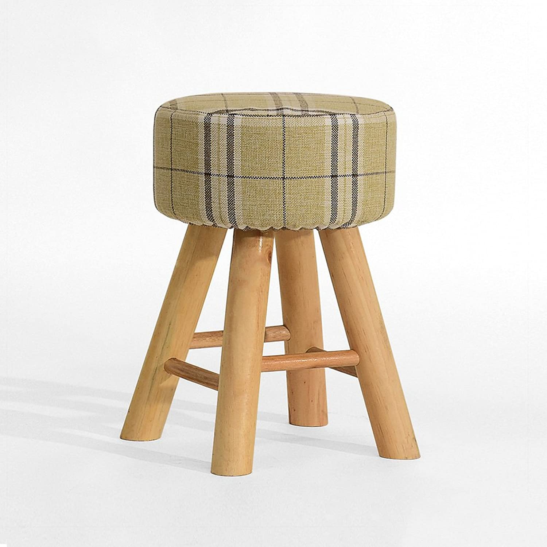 Solid Wood Linen Stool,Multifunctional Minimalist Modern Simple Nordic Style Home Living Room Dining Room Home Bedroom Creative Stool-C