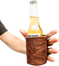 Rustic Leather Beer Glove Handmade by Hide & Drink :: Bourbon Brown
