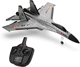 Sallymonday Imported RC Airplane RTF, 2.4G RC Airplane RTF Glider EPP Composite Material,3 Channel Built in 6 Axis Gyro System for 14+ Years Old Kids Adult (A100 SU-27) (Gray)