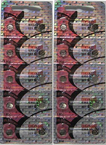 20 Maxell 321 SR616SW SR616 D321 V321 SR65 GP321 LR65 Batteries, New hologram packaging that guarantees authenticity