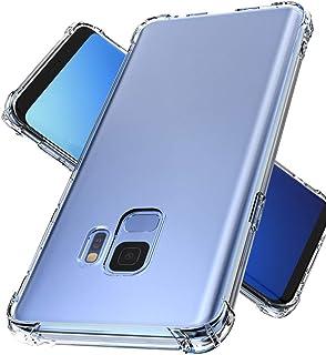 Youriad Samsung Galaxy S9 ケース カバー | 透明 クリア ソフト カバー| 特徴 耐衝撃 軽量 薄型 ストラップ 滑り止め 落下防止 TPU