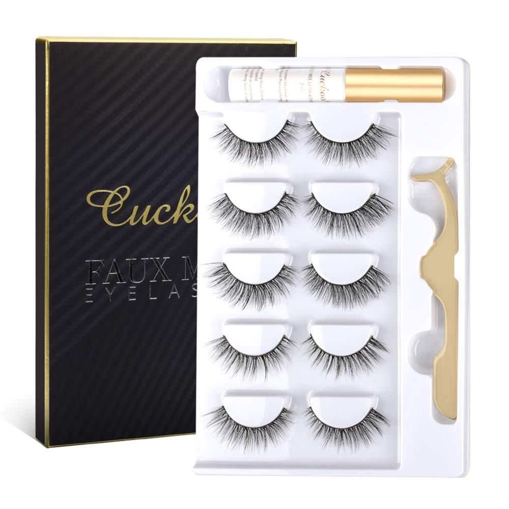 Cuckoo 2021 model Eyelashes Lashes Pack Many popular brands 5 3D Mink Pairs with Faux