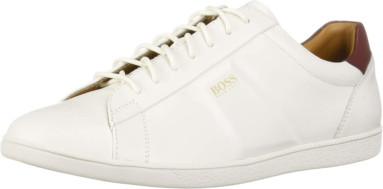 Hugo Boss Mens Rumba Low Top Leather Tennis Sneaker Sneaker