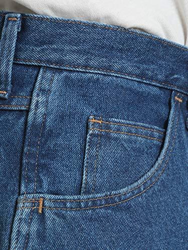Rustler Classic Men's Relaxed 5 Pocket Jean, Dark Stonewash, 35W x 30L