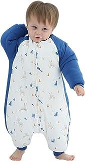 Bebé Unisex - Saco de dormir para bebé (algodón, suave, cálido, mango extraíble), diseño de pijamas