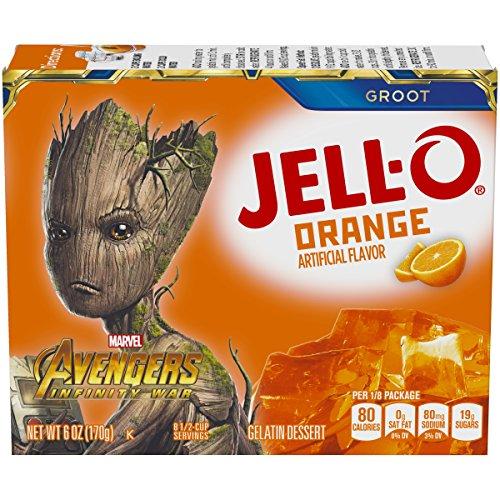 Jell-O Orange Gelatin Mix (6 oz Box)