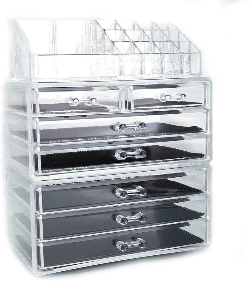 7 Drawer Acrylic 2021new shipping free Cosmetic Makeup New mail order D Jewelry Storage Organizer Box