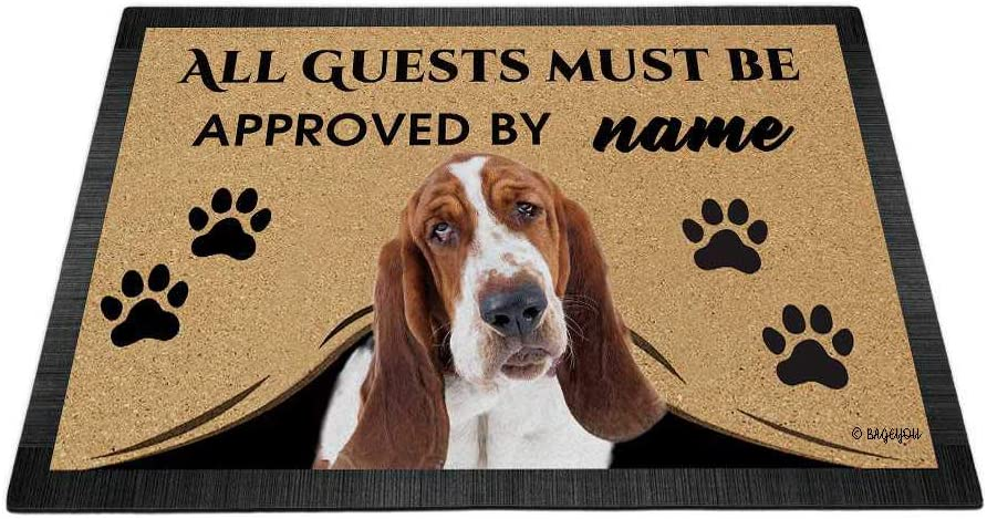 BAGEYOU All Guests Super beauty product restock quality top Must be Approved Oklahoma City Mall Doormat Bas with Love Dog My
