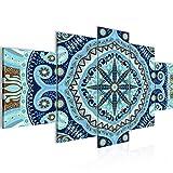 Mandala - 200 x 100 cm Tabla decoración de la pared Vista de impresión en lienzo Salón Apartamento - listo para colgar - 506751b