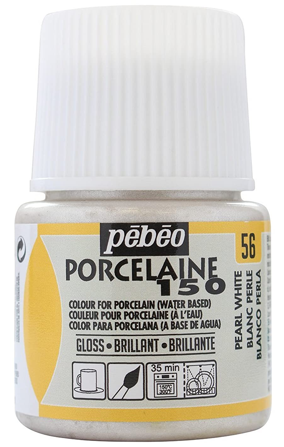 Pebeo Porcelaine 150, China Paint, 45 ml Bottle - Pearl White