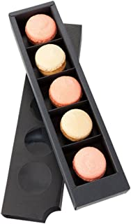"Macaron Box, Macaron To Go Packaging / Container - Holds 5 Macarons - Shock Safe for Transport - 12"" - 100ct Box - Restaurantware"