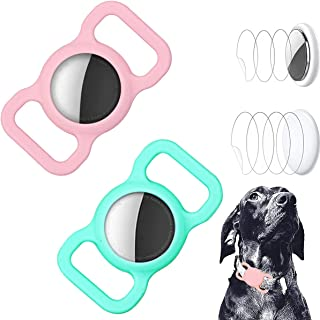 $20 » GOOCO Airtag Holder Compatible for Adjustable Lightweight Portable 2 Pack Silicone GPS Finder Dog Cat Collar Pet Loop Hold...