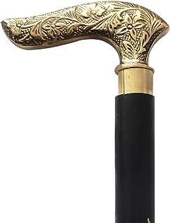 Nautical World New Derby Walking Cane Wood /& Brass Handle~Comfy 37 Stick~British Downton Style