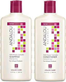 Andalou Naturals 1000 Roses Complex Color Care Shampoo and Conditioner