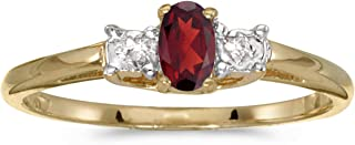 Best 14k yellow gold garnet diamond ring Reviews