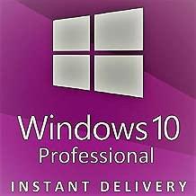 Windows 10 Pro License Key(32 or 64Bits, DSP, 1pk, Español)