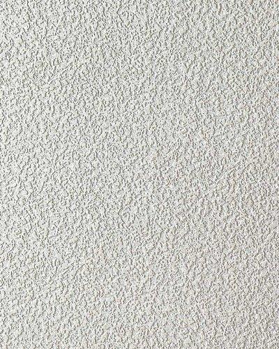 Papel pintado texturado de yeso EDEM 204-40 textura de estuco en vinílico espumado blanco 15 m