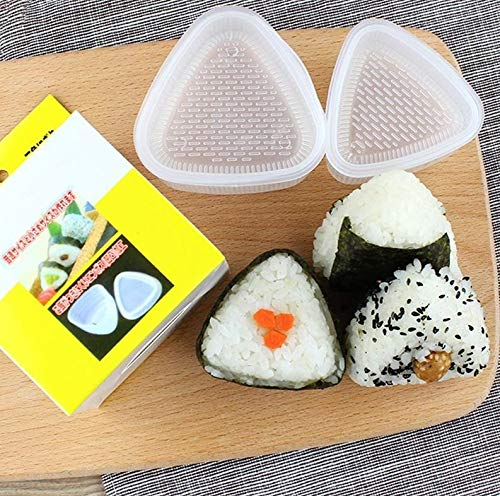 QFWN 4PCS/Set DIY Sushi Mold Onigiri Rice Ball Food Press Triangular Sushi Maker Mold Sushi Kit Japanese Kitchen Bento Accessories