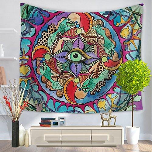 ZfgG Etnisch Zonnetapijt Hippy Tafelkleed Geel Muur Hangend Decoratief Indiaas Kunstlaken