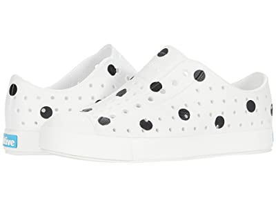Native Kids Shoes Jefferson Print (Little Kid) (Shell White/Shell White/Jiffy Black Polka Dots) Girls Shoes
