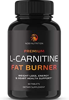Nobi Nutrition L-Carnitine Fat Burner - Healthier Weight Loss for Women & Men - Diet Pills, Appetite Suppressant, Carb Blo...