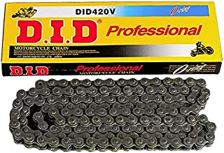 D.I.D 420V-124 Steel 124-Link Professional V Series O-Ring Chain with Connecting Link