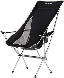 KingCamp アウトドアチェア ハイバックタイプ キャンプ椅子 折りたたみ ローチェア 耐荷重120kg チェアワン 背もたれ 超軽量 航空機用アルミ製 1.7kg 収納バッグ付き