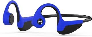 Bluetooth 5.0 進化版 Z8骨伝導 後掛け式 ワイヤレス スポーツイヤホン 超軽量 高音質 防汗防滴 ハンズフリー通話 ワイヤレス イヤホン bluetooth ヘッドセット 骨伝導 iPhone&Android対応 (ブルー)