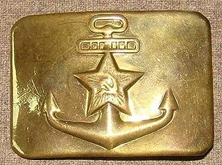 Original Russian Soviet Union Military Sailors NAVY Red Army RKKA Belt Buckle USSR Uniform Surplus