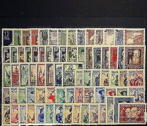 Goldhahn  erreich 1948 postfrisch  Nr. 854-928 Briefürken für Sammler