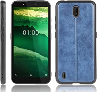 QGTONG-SA For Nokia C1 Shockproof Sewing Cow Pattern Skin PC + PU + TPU Case