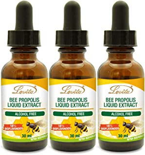 Lovita Bee Propolis Liquid Extract, Immune Support, 500mg per ml with 9:1 Concentrate, Natural Propolis Extract, Alcohol F...