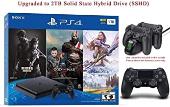 $479 » 2019 Newest Playstation 4 Holiday Bundle HESVAP Upgraded 2TB SSHD on Playstation PS4 Console Slim Bundle-Included 3X Games (The Last of Us,God of War,Horizon Zero Dawn) W/HESVAP Charging Station Dock