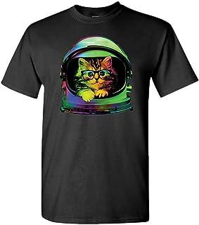 Space Kitten - Cute Astronaut cat Glasses - Mens Cotton T-Shirt