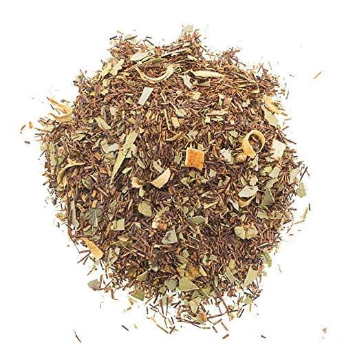 Aromas de Té - Infusión Rooibos Eucalipto y Naranja Estimulante Relajante/Té Rooibos con Naranja y Eucalipto sin Teína, 100 gr