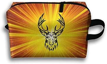 Mrshelp Elk Tribal 3D Print Travel Bag,Storage Cosmetic Bag Fashion Makeup Bag