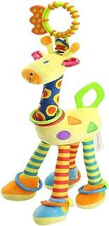 FOREAST Kids Handbells Rattles Toy Baby Soft Plush Toys Developmental Infant Birthday Present … (Yellow)