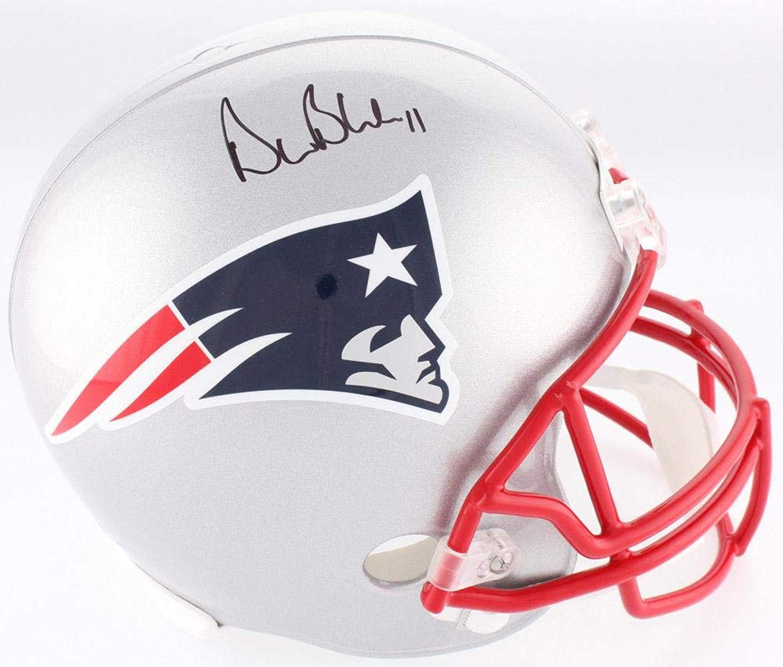 Drew Bledsoe Autographed Helmet  Full Size BAS Beckett  Beckett Authentication  Autographed NFL Helmets