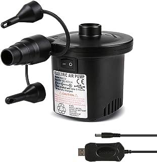comprar comparacion Deeplee Bomba de Aire Eléctrica, Inflador Bateria Recargable de llenado Rápido para Inflar Desinflar, Inflador Colchon Hin...