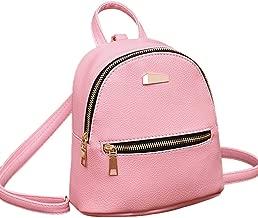 Women Leather Backpack School Rucksack College Travel Bag Shoulder Satchel BK by-NEWONESUN