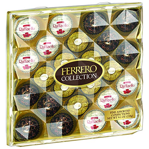 Product Image 7: Ferrero Rocher Collection, Fine Hazelnut Milk Chocolates, 24 Count, Valentine's Day Gift Box, Assorted Coconut Candy and Chocolates, 9.1 oz