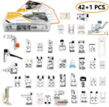 42 pcs Presser Feet Set with Manual & Adapter SIMPZIA Sewing Machine Foot Kit Compatible with Brother, Babylock, Janome, Singer, Elna, Toyota, New Home, Simplicity, Necchi, Kenmore, White (Low Shank)