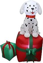 ESG Warehouse 5 Ft Tall Christmas LED Inflatable Dalmatian Puppy Dog Pet Present Yard Decoration