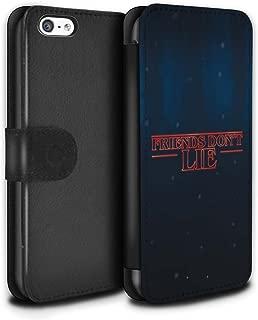 STUFF4 PU Leather Wallet Flip Case/Cover for Apple iPhone 5C / Friends Don't Lie Design/Strange Retro Collection