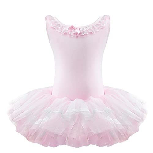 872540ee54 TiaoBug Girls Tulle Ballet Dance Leotard Tutu Skirt Tiered Princess Dress