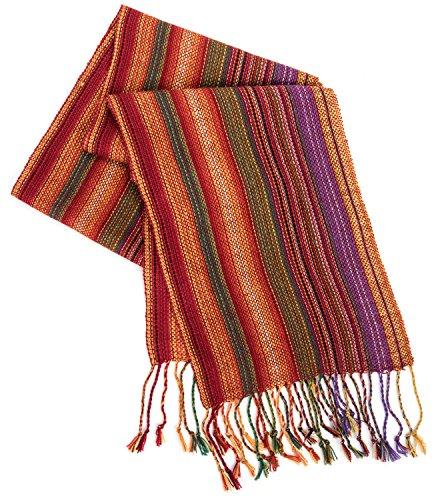 Strecken Women's HAND MADE 100% Alpaca Lightweight Shawl Scarf Fashion Accessory (Multicolor)