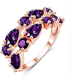 خاتم نسائي مطلي بالذهب من متجر Los Angeles 7 أمريكي مطلي بالذهب مقاس 7 خاتم نسائي مطلي بالذهب