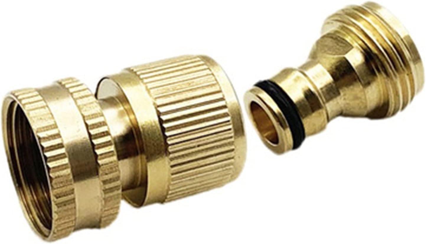 Zkenyao-Brass Connector Garden Hose Quick Connect depot Deluxe Co Brass