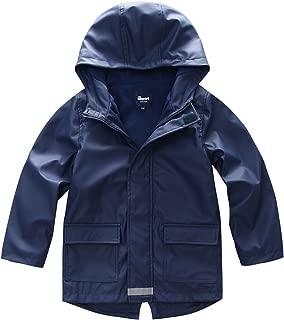 Boys Girls Waterproof Rain Jacket Fleece Lined Softshell Coat