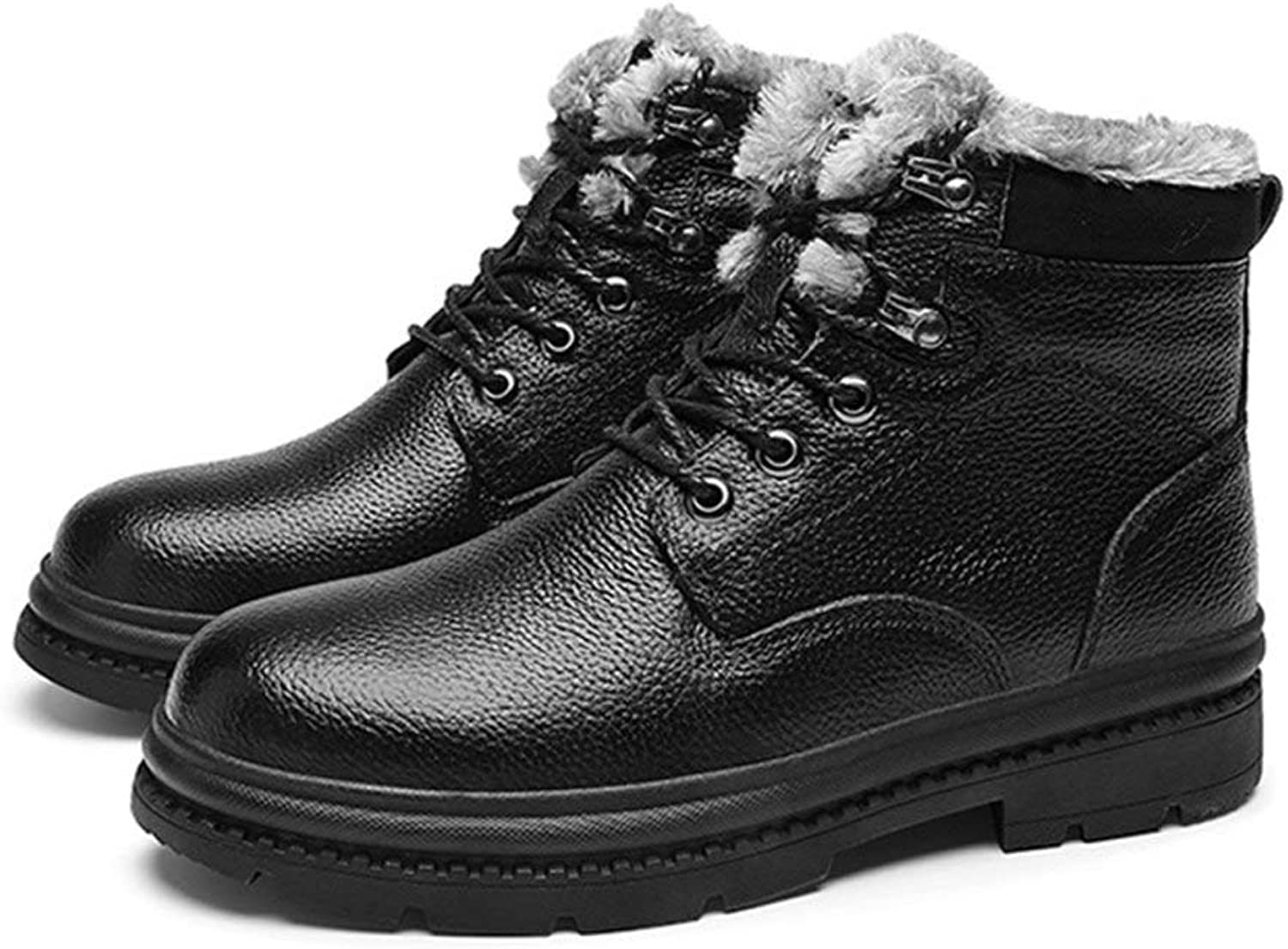 Men's Winter shoes, Cowhide Plush Lining Outdoor Hiking shoes